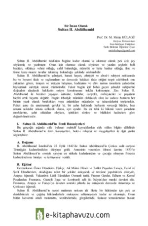 Metih Hülagü - Bir İnsan Olarak Sultan 2. Abdülhamid