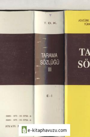 Tarama Sözlüğü 3. Cilt (Tdk)