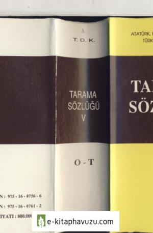 Tarama Sözlüğü 5. Cilt (Tdk)