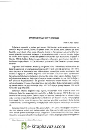 Çanakkale Boğazı Özet Ve Kronoloji