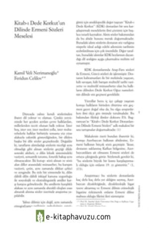 21 Dede Korkut Kitabında Ermeni Sözleri