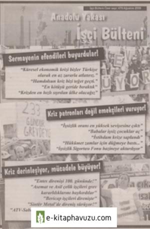 Anadolu Yakası İşçi Bülteni İşçi Bülteni Özel Sayı 479 Ağustos 2009