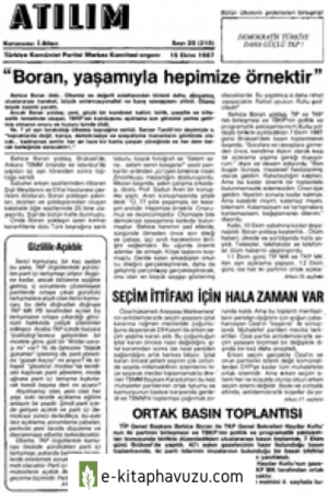Atılım Sayı 210 15 Ekim 1987 kiabı indir