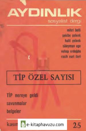 Aydınlık Sosyalist Dergi - Sayı 25 - Kasım 1970