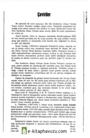 Ceviriler Amp Kuzey Vietnam Tarimi Uzerine Tartisma Alec Gordon