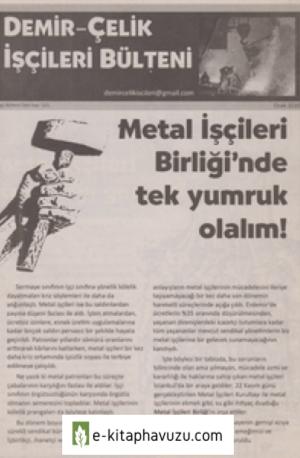 Demir-Çelik İşçileri Bülteni İşçi Bülteni Özel Sayı 521 Ocak 2010