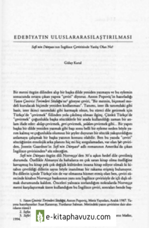 Edebiyatin Uluslararasilastirilmasi - Gülay Kutal