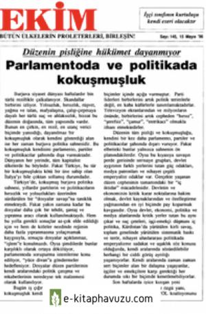 Ekim Sayı 145 15 Mayıs 1996
