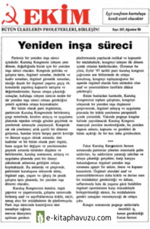 Ekim Sayı 207 Ağustos 1999 kiabı indir