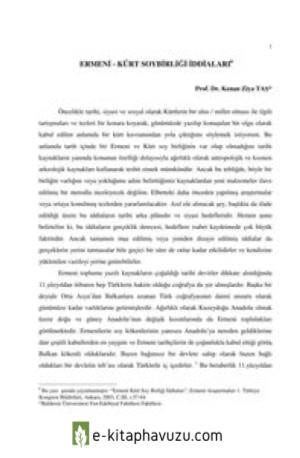 Ermeni-Kürt Soybirliği İddiaları - Kenan Ziya Taş