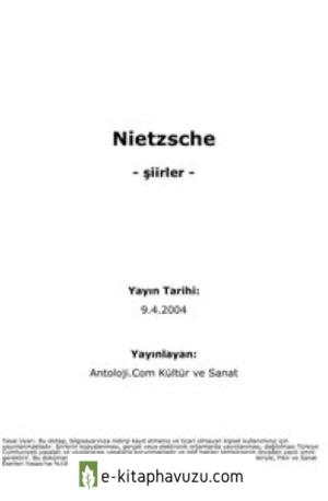 Friedrich Nietzsche - Şiirler