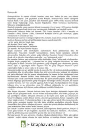 Fyodor Mihailoviç Dostoyevskibir Garip Kişinin Düşü