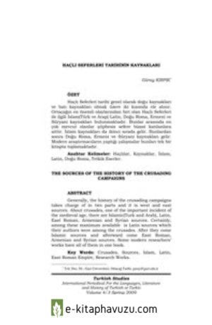Güray Kırpık - Haçlı Seferleri Tarihinin Kaynakları