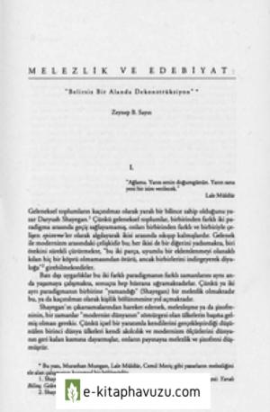 Melezlik Ve Edebiyat - Zeynep Sayin