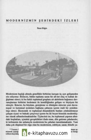 Modernizmin Sehirdeki Izleri - Ihsan Bilgin