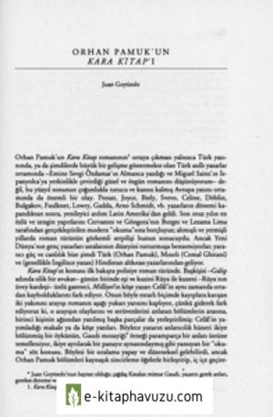 Orhan Pamuk'un Kara Kitap'i - Juan Goytisolo Çev. Gül Isik