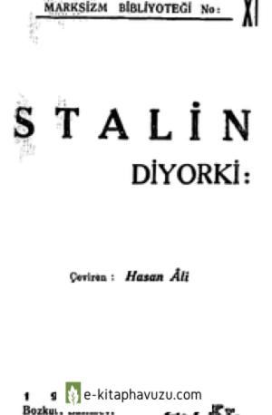 Stalin - Marksizm Bibloteği Stalin Diyorki