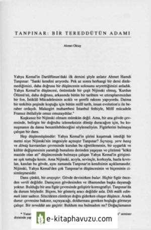 Tanpinar Bir Tereddütün Adami - Ahmet Oktay