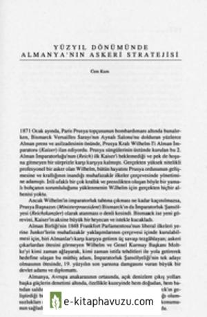 Yüzyil Dönümünde Almanya'nin Askeri Stratejisi - Cem Kum