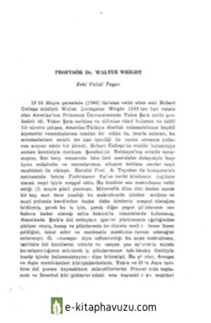 Zeki Velidi Togan - Prof. Dr. Walter Wright